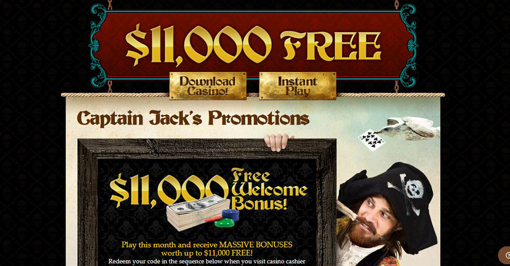 Captain Jack Casino Screenshot
