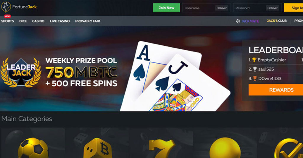 Fortunejack Casino Screenshot