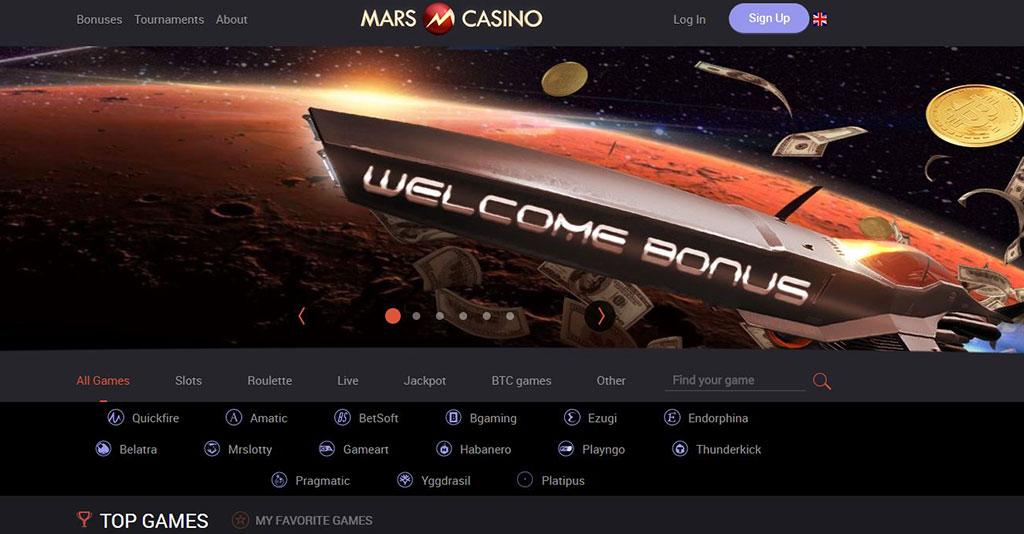 Mars Casino Screenshot