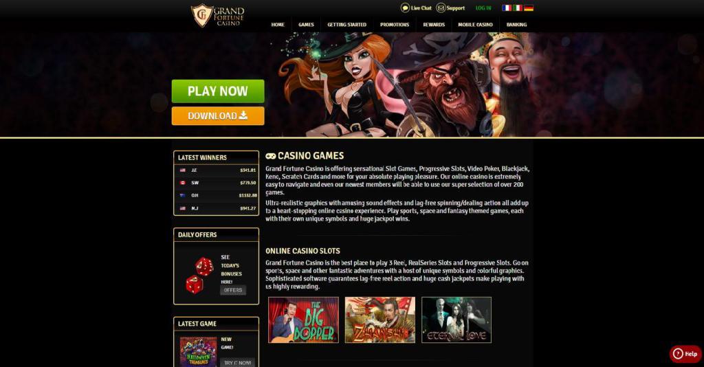 Grand Fortune Casino Screenshot