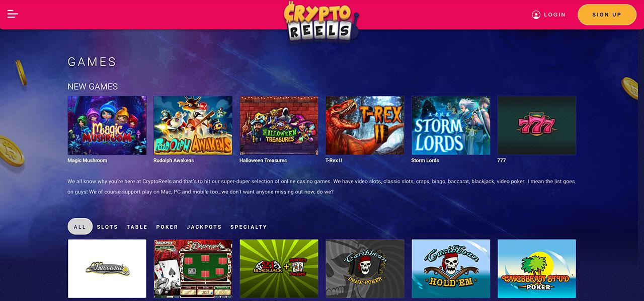 CryptoReels Casino Screenshot